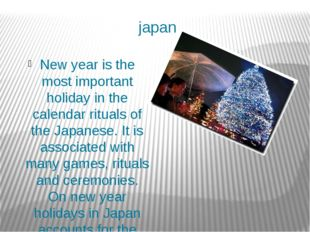 japan New year is the most important holiday in the calendar rituals of the J