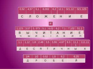 321,12 4,57 5,1 12,1 6,2 0,52 321,123 6,002 И Л О Н Е С Е Ж 3,573 3,57 5,1 51