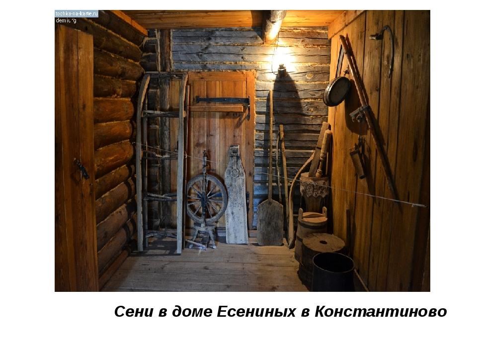 Сени в доме Есениных в Константиново