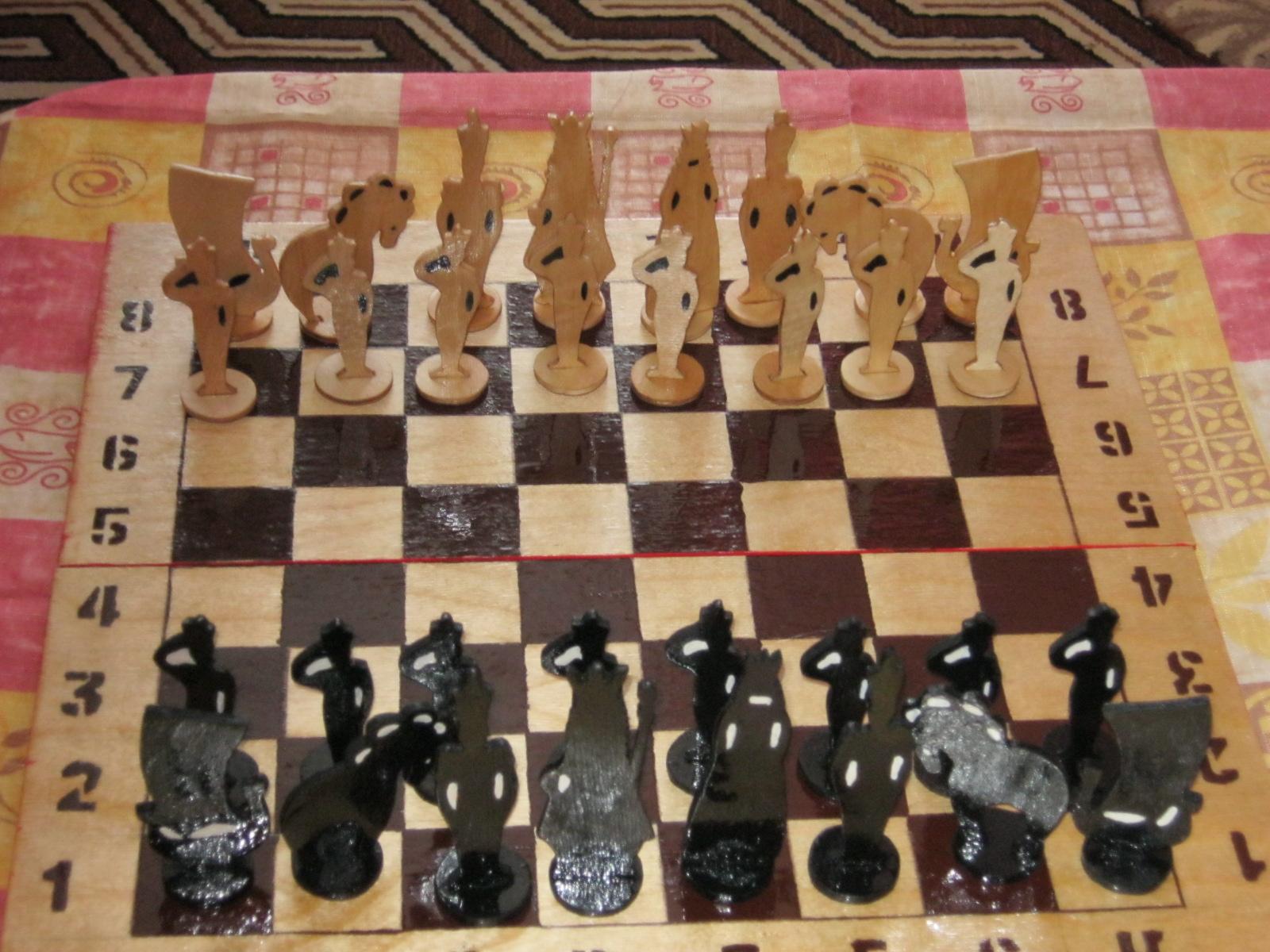 Как сделать своими руками шахматы из дерева