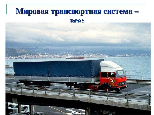 автор: Карезина Нина Валентиновна Мировая транспортная система – все: пути со...