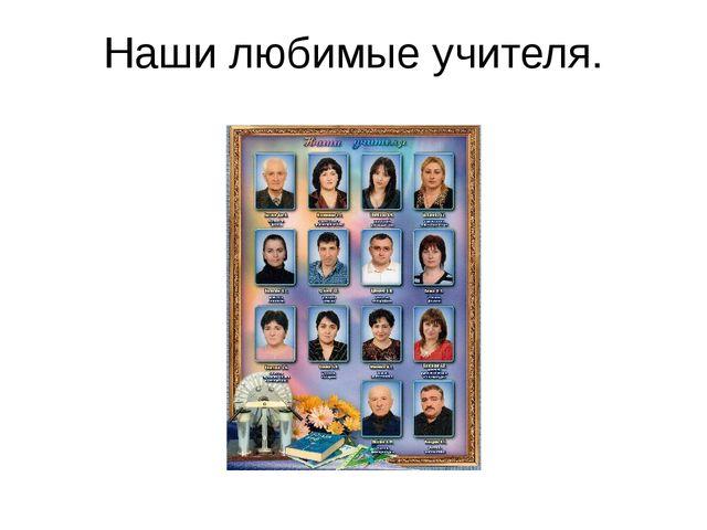 Наши любимые учителя.