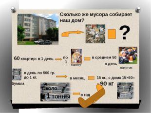 ? Сколько же мусора собирает наш дом? 60 квартир: в 1 день в среднем 50 в де
