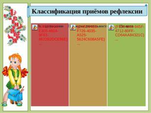 Классификация приёмов рефлексии © Фокина Лидия Петровна