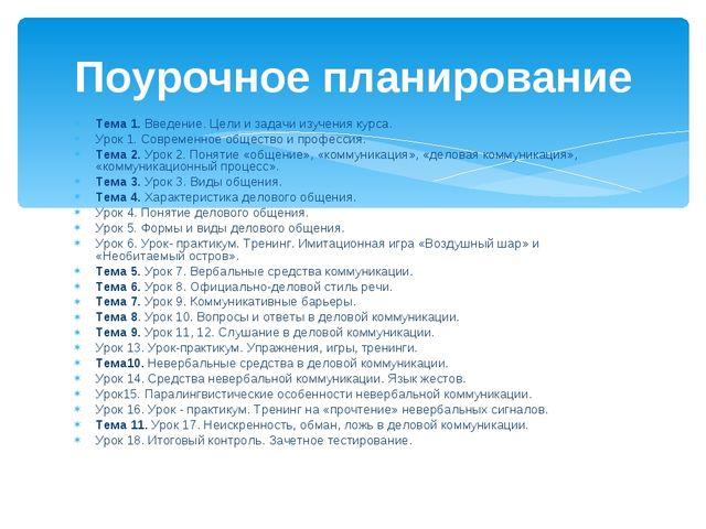 Тема 1. Введение. Цели и задачи изучения курса. Урок 1. Современное общество...