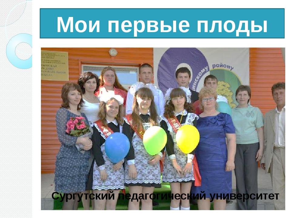 Мои первые плоды Сургутский педагогический университет