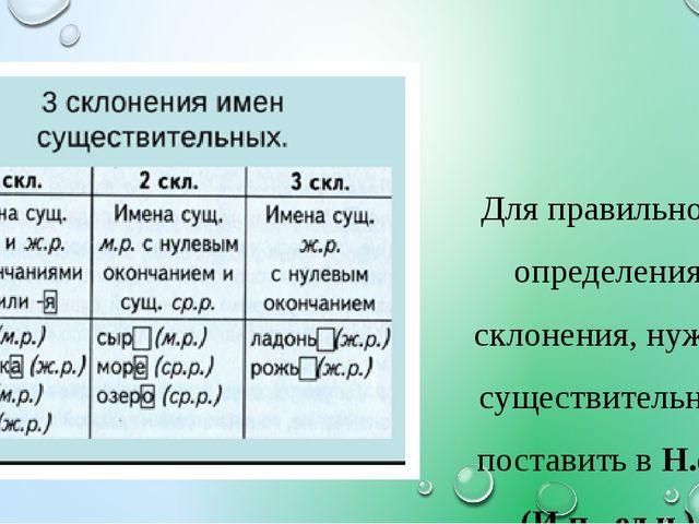 Для правильного определения склонения, нужно существительное поставить в Н.ф....