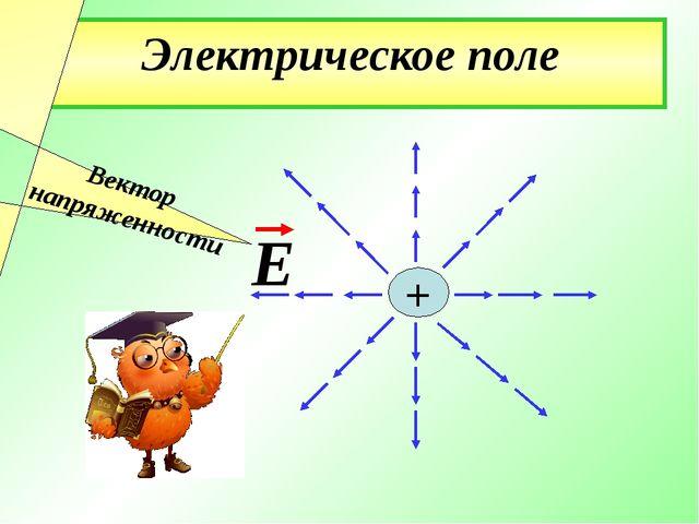 Электрическое поле Е + Вектор напряженности