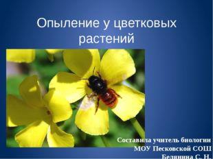 Опыление у цветковых растений Составила учитель биологии МОУ Песковской СОШ Б