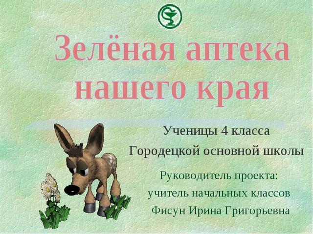 Ученицы 4 класса Городецкой основной школы Руководитель проекта: учитель нача...
