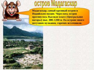 Мадагаскар, самый крупный остров в Индийском океане. Через весь остров протян