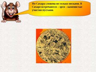 Но Сахара сложена не только песками. В Сахаре встречаются – эрги – каменистые