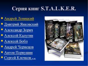 Серия книг S.T.A.L.K.E.R. Андрей Левицкий Дмитрий Янковский Александр Зорич А