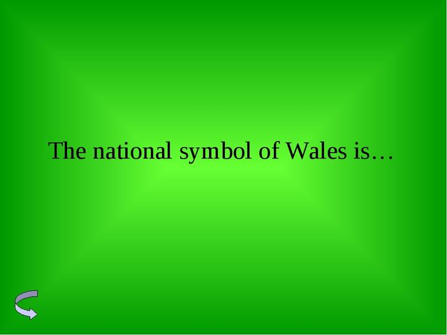 The national symbol of Wales is…