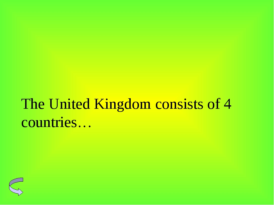 The United Kingdom consists of 4 countries…