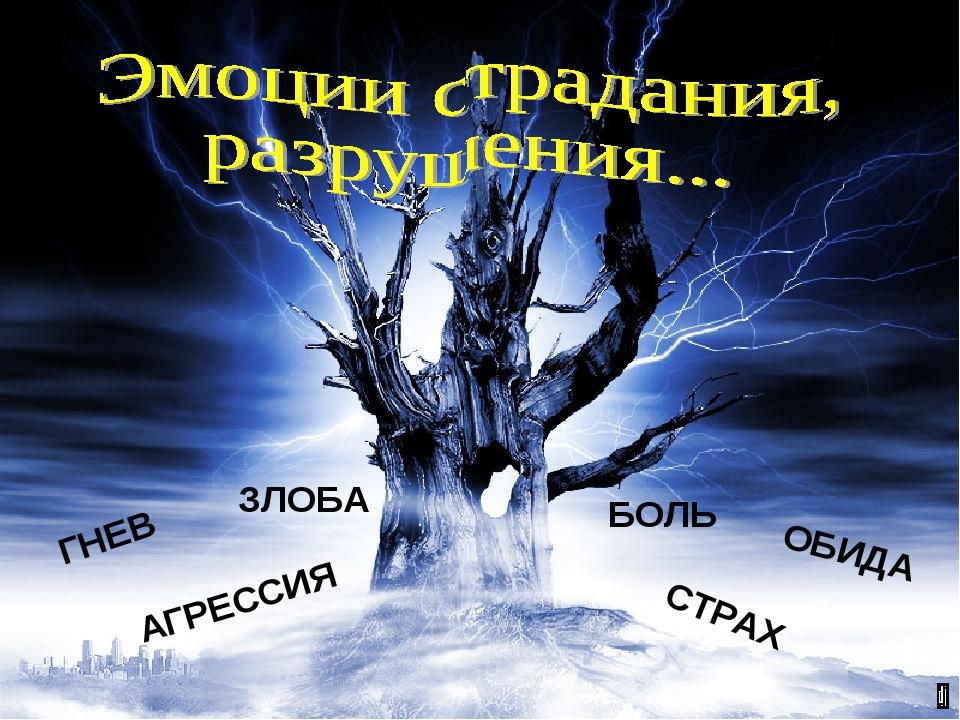ГНЕВ ЗЛОБА АГРЕССИЯ БОЛЬ СТРАХ ОБИДА