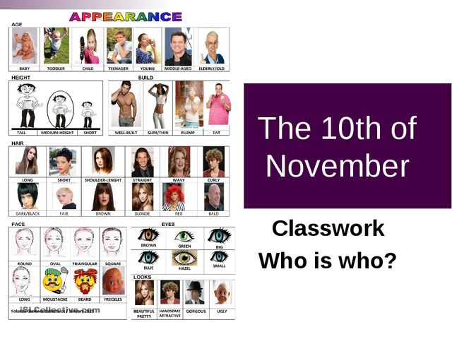 The 10th of November Classwork Who is who?