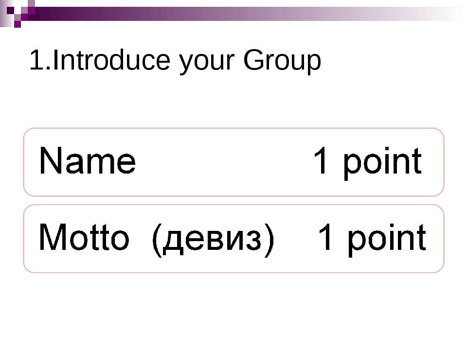 1.Introduce your Group