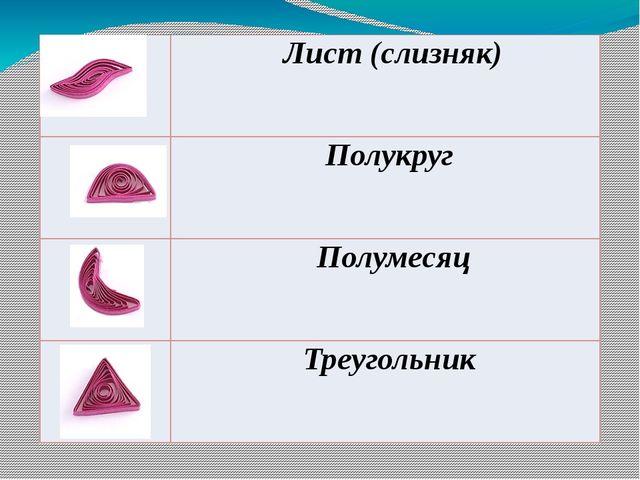 Лист (слизняк) Полукруг Полумесяц Треугольник