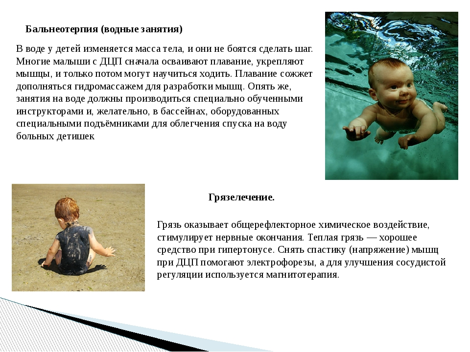 Бальнеотерпия (водные занятия) В воде у детей изменяется масса тела, и они не...