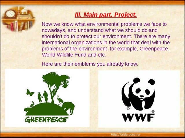Now we know what environmental problems we face to nowadays, and understand w...
