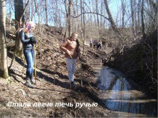 Стало легче течь ручью