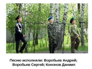 Песню исполняли: Воробьев Андрей; Воробьев Сергей; Кононов Даниил