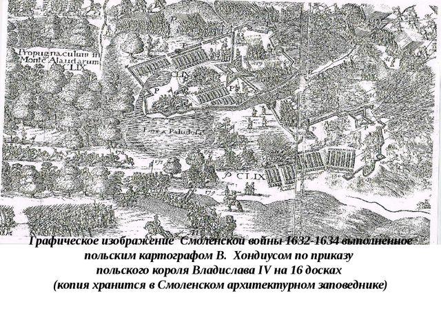 Графическое изображение Смоленской войны 1632-1634 выполненное польским карт...