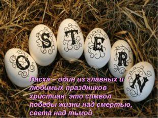Пасха – один из главных и любимых праздников христиан: это символ победы жизн