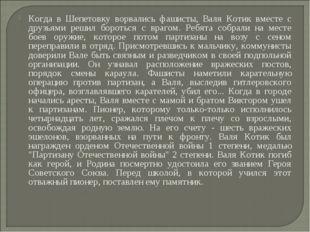 Когда в Шепетовку ворвались фашисты, Валя Котик вместе с друзьями решил борот