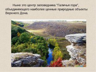 """Ныне это центр заповедника """"Галичья гора"""", объединяющего наиболее ценные при"""