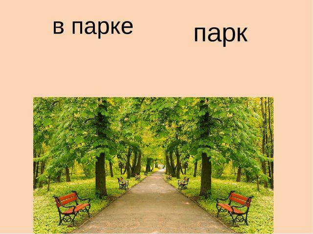 в парке парк