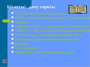 Түйіншек хат (Узелковое письмо) Саз бен тастан жасалған кітаптар (Глиняные, к