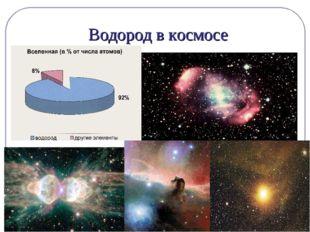 Водород в космосе