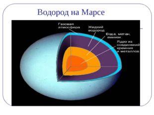 Водород на Марсе