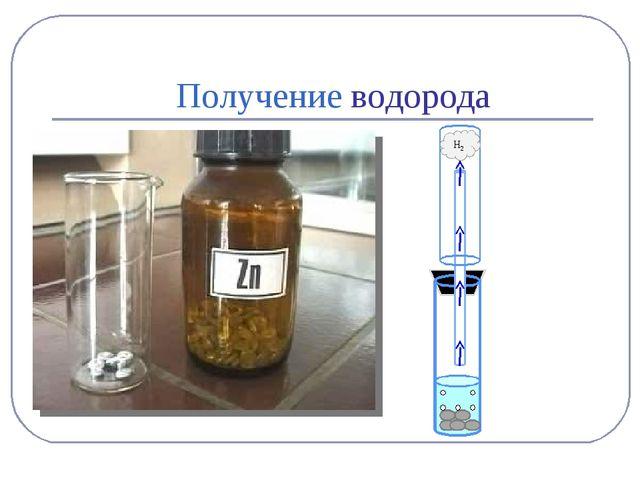 Получение водорода H2