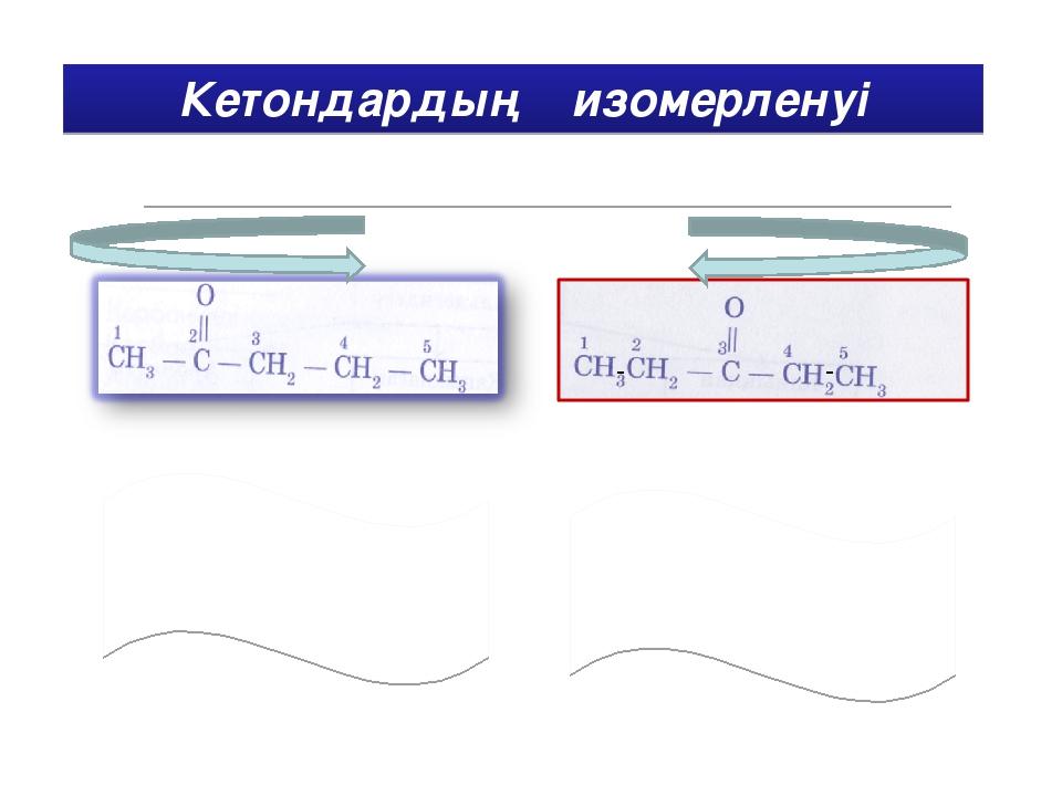 Кетондардың изомерленуі Төменде берілген изомерлі заттың атын жаз. - -