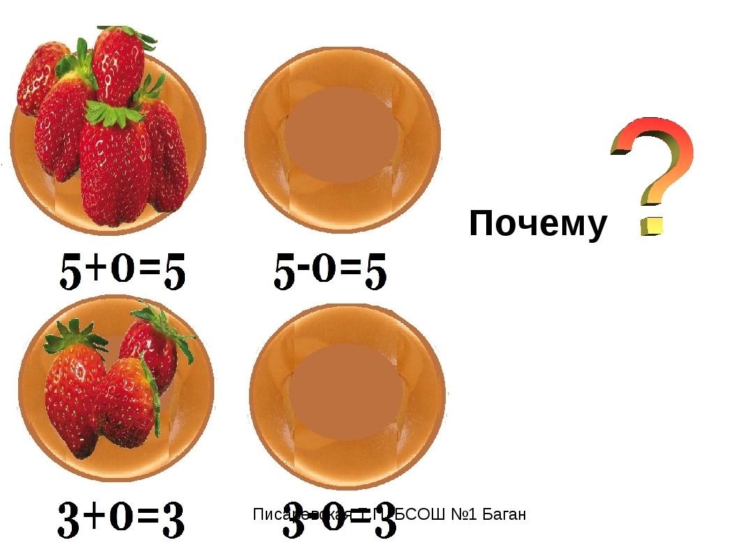 Почему Писаревская Т.П. БСОШ №1 Баган