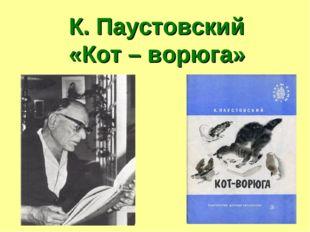 К. Паустовский «Кот – ворюга»