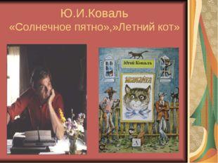 Ю.И.Коваль «Солнечное пятно»,»Летний кот»