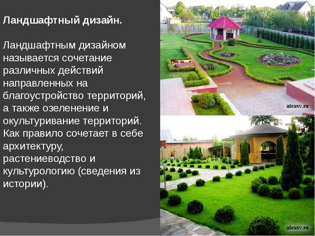 Ландшафтный дизайн. Ландшафтным дизайном называется сочетание различных дейст...