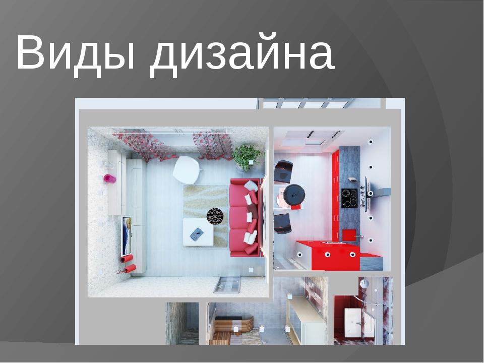 Виды дизайна