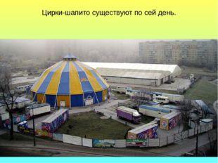 Цирки-шапито существуют по сей день.