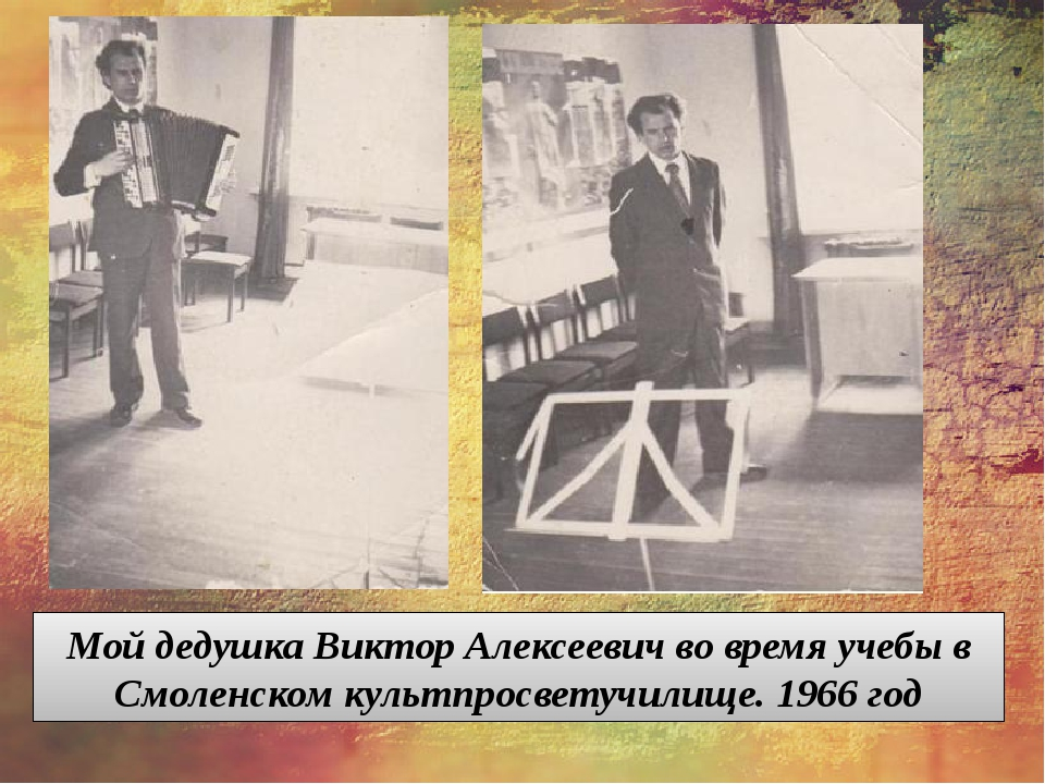 Мой дедушка Виктор Алексеевич во время учебы в Смоленском культпросветучилищ...
