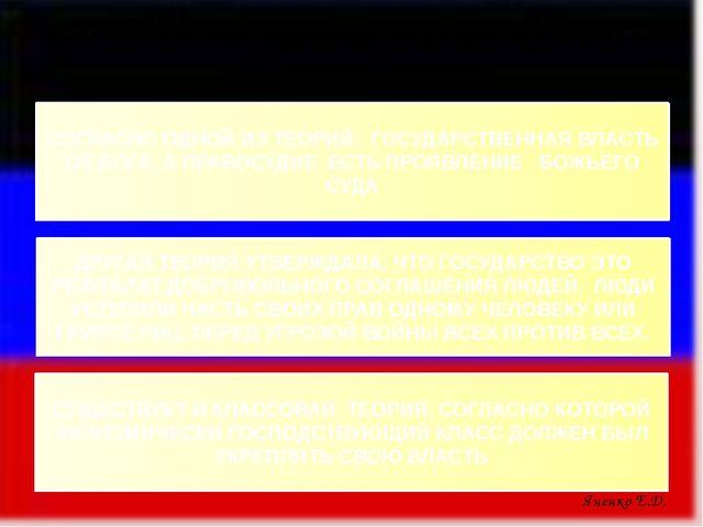 ТЕОРИИ ПРОИСХОЖДЕНИЯ ГОСУДАРСТВА: СОГЛАСНО ОДНОЙ ИЗ ТЕОРИЙ: ГОСУДАРСТВЕННАЯ В...