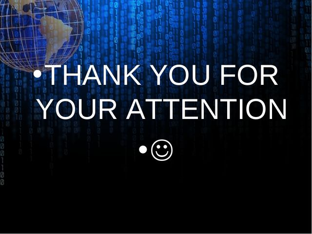 THANK YOU FOR YOUR ATTENTION 
