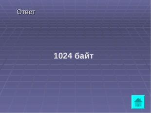 Ответ 1024 байт