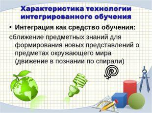 Интеграция как средство обучения: сближение предметных знаний для формировани