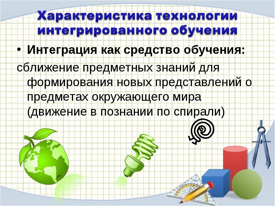 Интеграция как средство обучения: сближение предметных знаний для формировани...