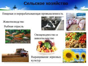 Сельское хозяйство Животноводство Рыбная отрасль Пищевая иперерабатывающая п